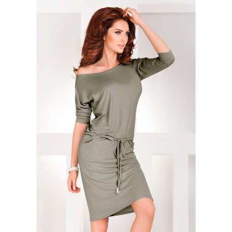 1e48c1702c88 NUMOCO šaty dámske 13-33A športové 3 4 rukáv - stredne sivý melír ...