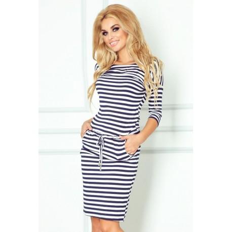 a02137591d01 NUMOCO šaty dámské 13-34 sportovní - tmavě modré proužky - AZ-MODA.CZ
