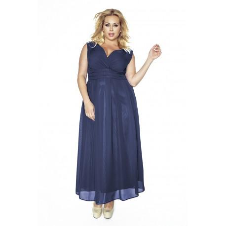 ee300a8d29db Večerné šaty Nadmerné veľkosti sifón obálka výstrihov KM150-3PSGRANAT