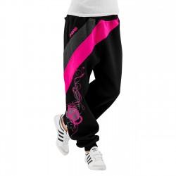 Dangerous DNGRS Skull Sweatpants Black/Pink tepláky dámské