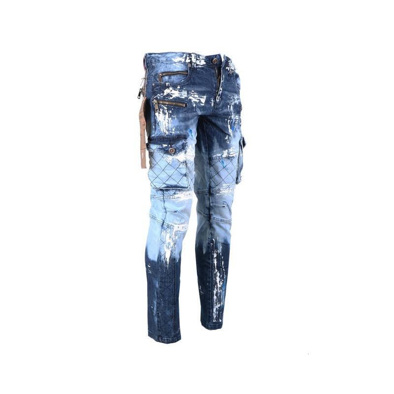 881abe984f2 KOSMO LUPO kalhoty pánské KM135-1 jeans džínsy - AZ-MODA.CZ