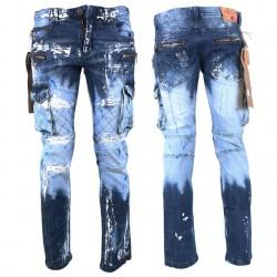 KOSMO LUPO kalhoty pánské KM135-1 jeans džínsy