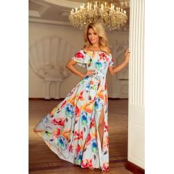 2497d2acab NUMOCO šaty dámské 194-1 dlouhé květiny
