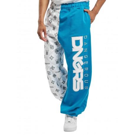 Dangerous DNGRS / Sweat Pant Half Crown & King in white
