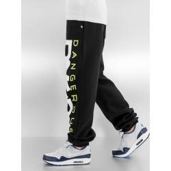 Dangerous DNGRS kalhoty pánské Classic Sweat Pants Black/Green tepláky