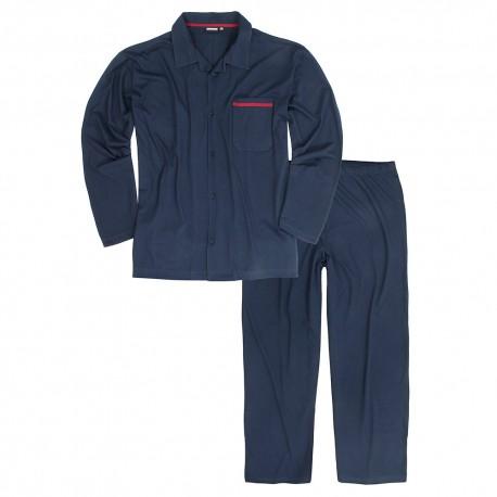 ADAMO pyžamo pánské BENNO rozepínací nadměrná velikost