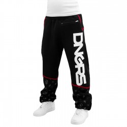Dangerous DNGRS Crosshair Sweat Pants Jet Black/Chili Pepper