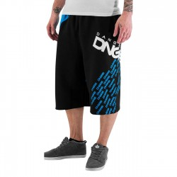 Dangerous DNGRS Swip Sweat Shorts Black/Blue Jewel
