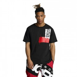 Dangerous DNGRS Paint Stain T-Shirt Black